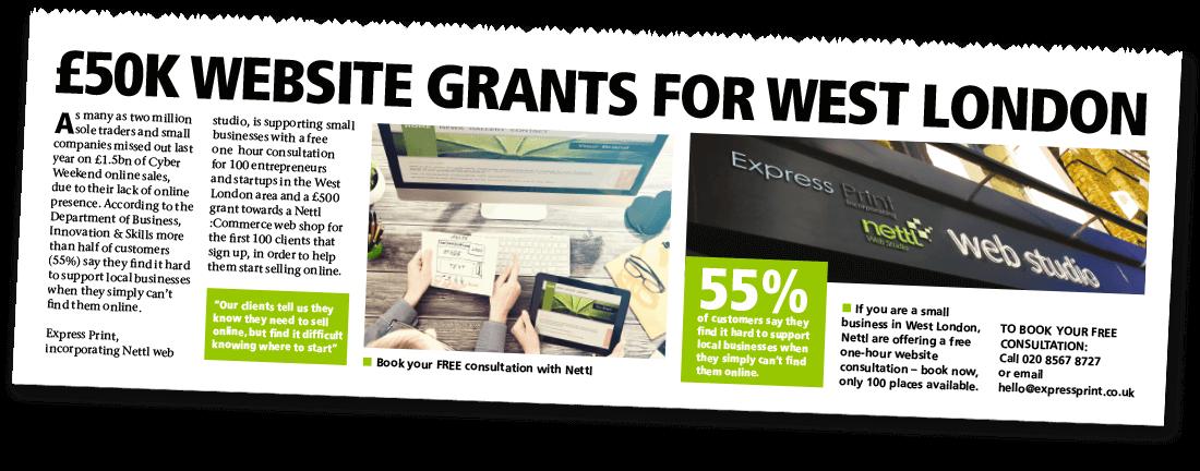 £50K Website Grant