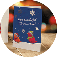 Silk Christmas Cards - Shine