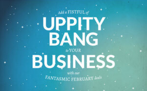 uppity bang to your business banner