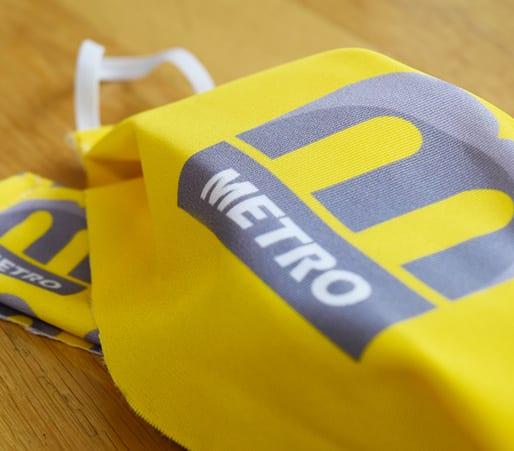 Yellow Metro Regular Face Mask