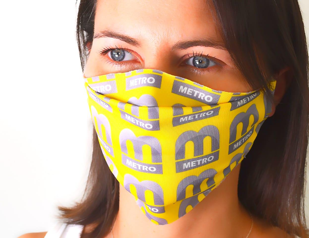 Yellow Metro Face Mask